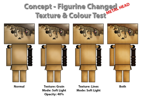 4. Concept - Figurine Changed Texture & Colour Test - Metal